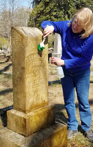 Roswell Cemetery Marker Cleaning